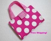 Pink Polka Dot print Crayon Wallet. Free Shipping/Ready to Ship