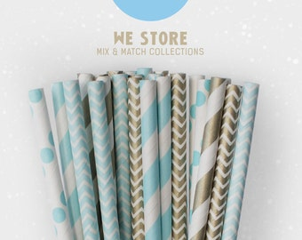 25 PAPER STRAW with free printable DIY Toppers - Cool Winter