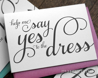 Will You Be My Bridesmaid Proposal Cards - Will You Be My Matron Maid of Honor, Flower Girl Bridesman Cute Card Help Me Say Yes to the Dress