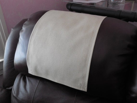 recliner caps chair cover headrest pad furniture by stitchnart