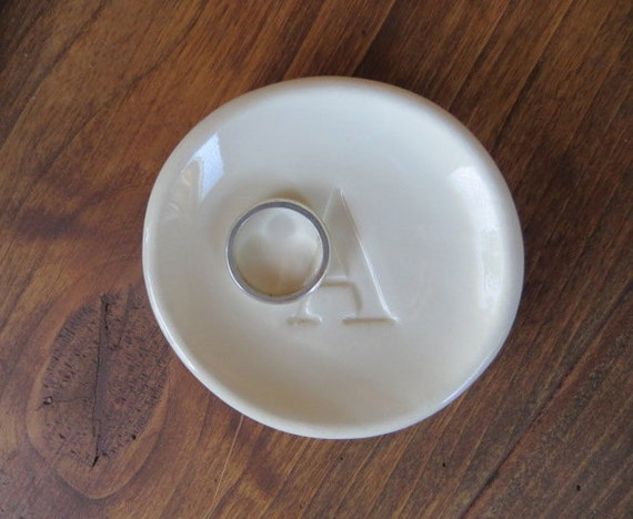 ring dish, Monogram ring holder, jewelry dish, Custom initial tray,  Gift Boxed, Made to Order