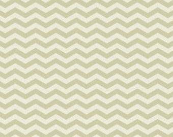 Gray and Cream Chevron Fabric - True Colors by Heather Bailey from Free Spirit - 1/2 Yard