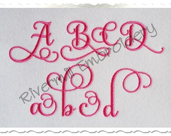Samantha Script Alternate Set 2 Machine Embroidery Font Monogram Alphabet - 3 Sizes