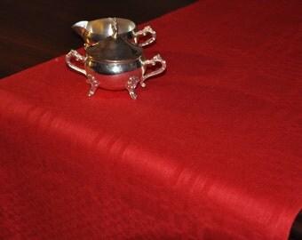 Pure Linen Table Runner In Deep Crimson Red Linen