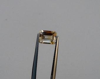 Citrine Emerald gem 8 x 6mm