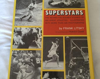 Vintage book Superstars Frank Litsky sports athletes photographs