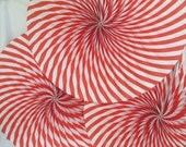 Candy Land Decoration Hanging Paper Fans Christmas Rosettes Red Hanging Fans Pinwheels Candy Cane Paper Fans Hanging Fans Party Decoration