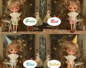 Miss yo 2015 Summer & Autumn - Vintage Cute Dress set for Blythe / JerryBerry doll - dress / outfit - 4 colors in