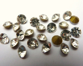 24 rhinestones SS23, glass, Ø5mm, crystal