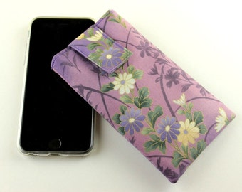 Fabric iPhone 6 case, Gift For Her, Smart Phone Covers,Chrysanthemum Purple