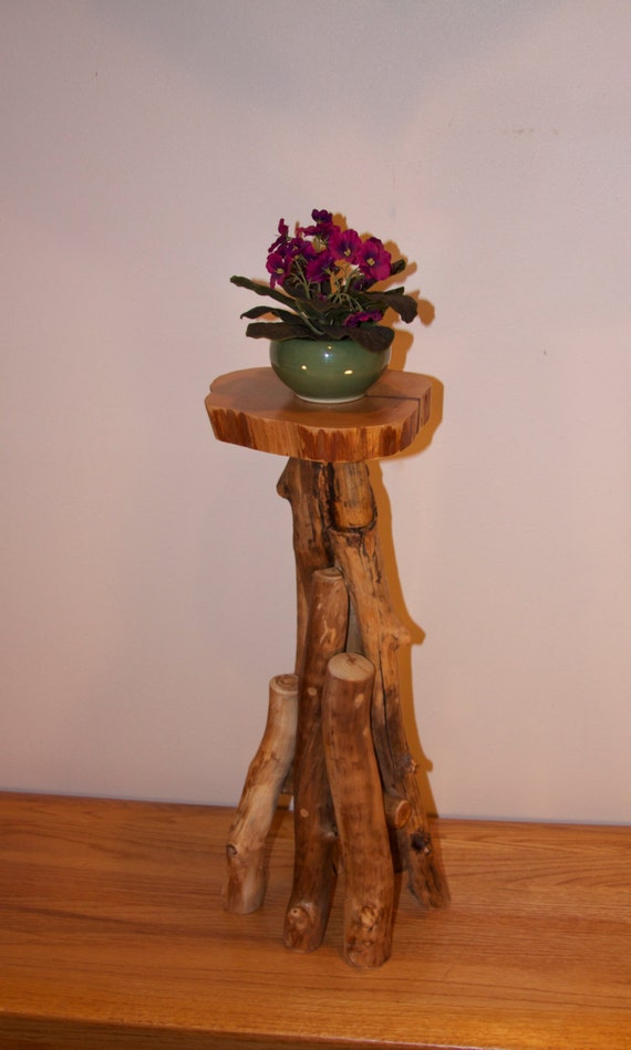 Rustic Plant Stand Rustic Home Decor Wood Art Modern
