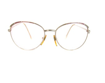 Vintage Women's Metal Italian Glasses Frames - Silver and purple