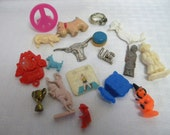 Vintage Cracker Jack and gumball machine toys lot of 18 vintage toys