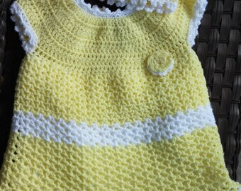 Yellow Dress and Hat For Girl Toddler Perfect For Spring or Easter  Size 2-3