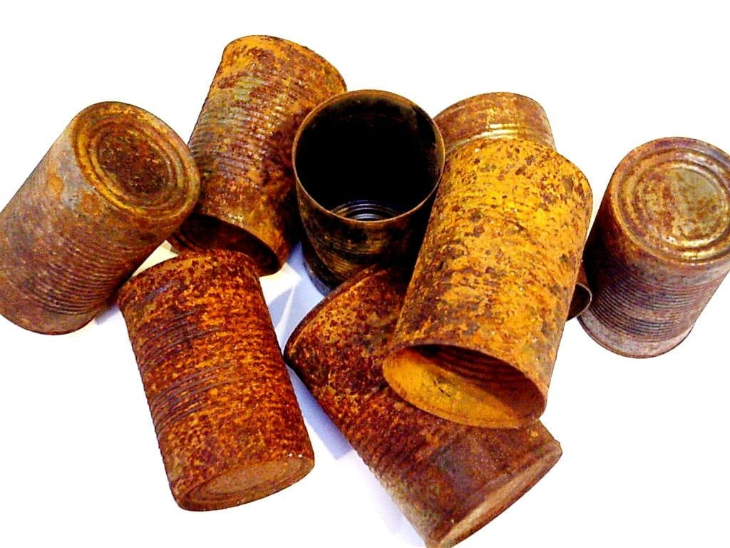 Rusty tin craft supplies - Rusty Tin Cans Weathered Rustic Primitive Wedding Home Decor Metal Containers Industrial Craft Supply With Patina Set Of 3 Itsyourcountry