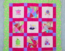 Quilt Applique Crazy Quilt - A Little Crazy For Princess Quilt
