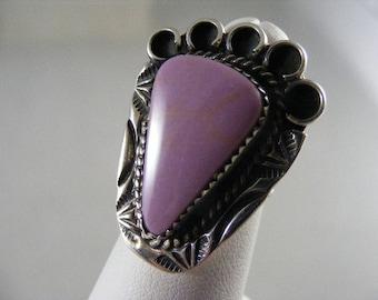 Rare Vintage Sterling Southwest Phosphosiderite Ring.....  Lot 3727