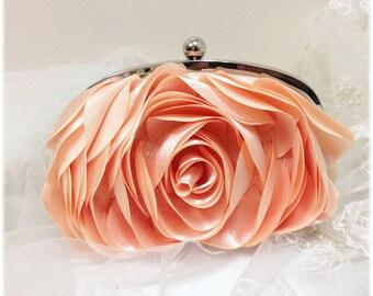 Wedding clutch, bridesmaid clutch, blush bag, blush clutch, pink clutch, bridal evening bag, formal bag, formal clutch, pearl clutch