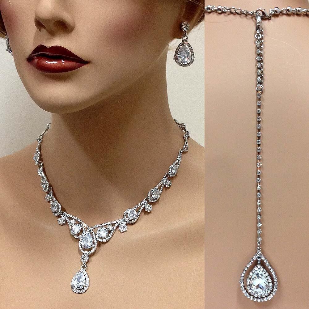 Bridal jewelry set Wedding jewelry vintage inspired back