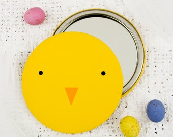 Chick Pocket Mirror- Chick Magnet - Easter Gift - Chicken Mirror - Easter Chick