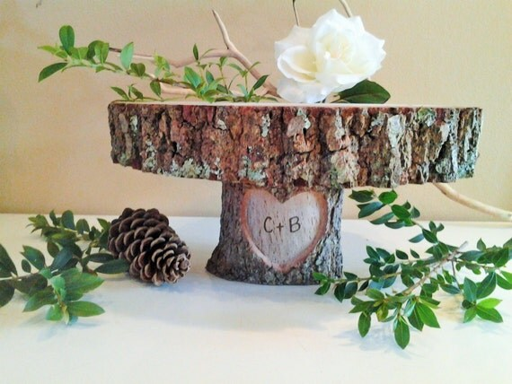 western country rustic wedding cake stand