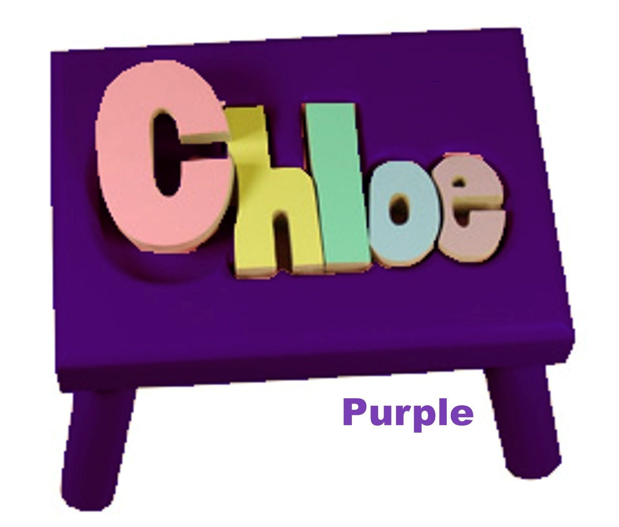 Purple Name Puzzle Stools