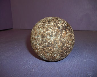 Real Cannon Ball old vintage war Seminole Florida 1800's artifact metal boar