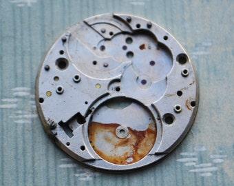 Molnija. Vintage Soviet Russian pocket watch movement.