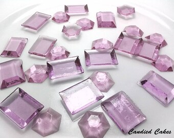 250 LAVENDER EDIBLE SUGAR Jewels - Featured in Brides Magazine