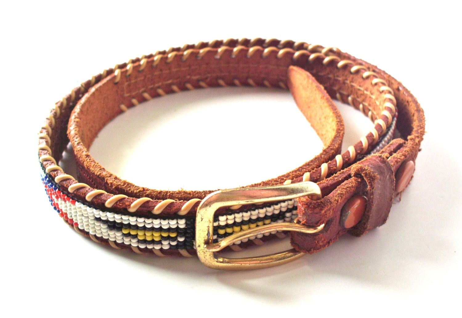 vintage leather beaded indian belt hong kong by