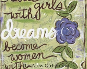 Little girls with dreams... Art print available in three sizes