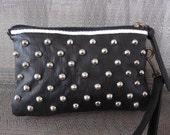 studded punk wallet purse clutch