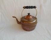 Copper Kettle Teapot Coffepot Cottage  Shabby Chic