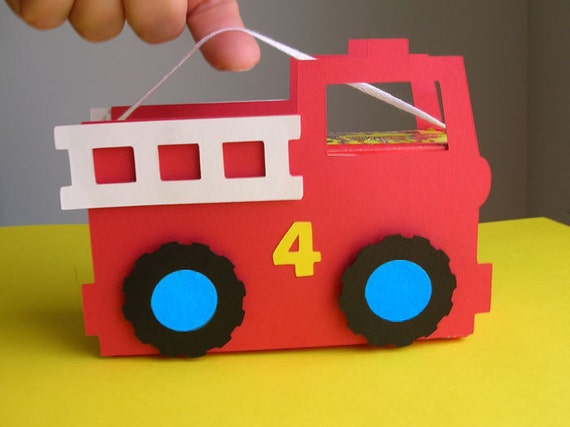 Fire Truck Birthday Party Favor (set of 8)