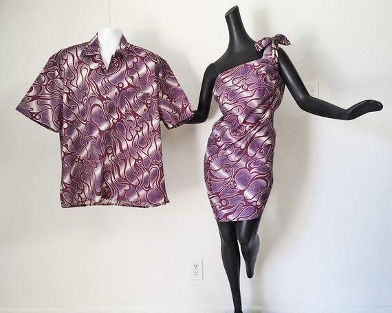 vintage hawaiian wedding set men 39 s hawaiian shirt women
