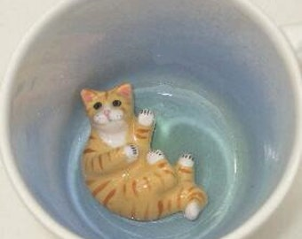 Yellow Tabby, paw printed (In Stock)