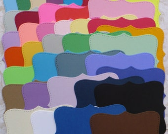 40 Top Note Shapes from Stampin Up Die - Die Cut pieces made from Assorted Colors of Cardstock