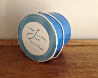 Vintage Jet Setter Wig Hat Box Mid Century Decor Storage