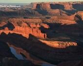 Nature Photography, Sunrise Photo Print, Desert Art, southwest landscape, tawny rust russet decor, Fine Art Photograph, Utah travel print