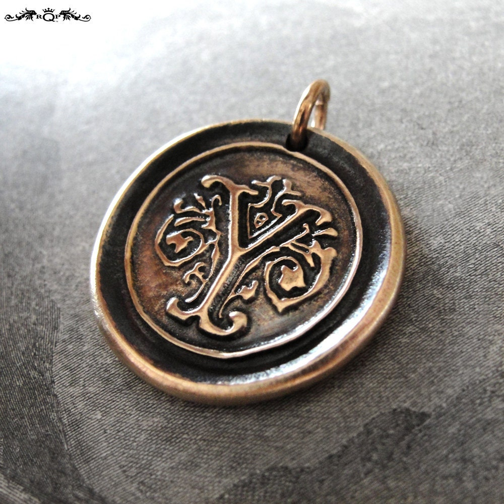 wax seal charm initial y wax seal jewelry pendant alphabet