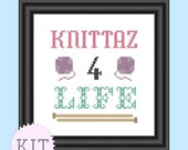 KIT Counted Cross Stitch Knittaz 4 Life