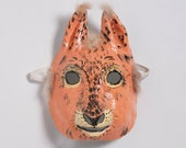 Paper mache squirrel mask