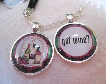 Got Wine Silver Pendant - one item