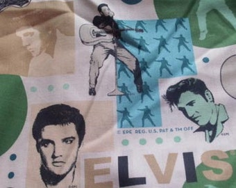 Elvis Collage Fabric  1 1/2 yards