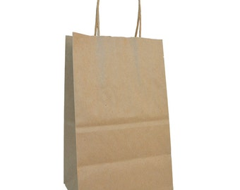 """5.5 x 3 x 8.5"""" - 100% Recycled Paper Shopper- Case of 250"""