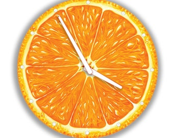 Orange Wall Clock Fruit