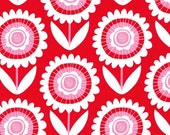 Michael Miller Fabric by the yard Hello Sunshine in Red 1 yard