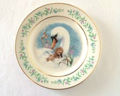 Vintage Spring Avon Gentle Moments Mother Baby Swan Collectible Plate 1975 Mothers Day Gift for mom