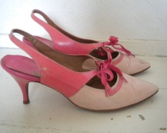 Two toned pink 50s shoes