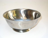 Stelton Denmark Stainless Steel Footed Serving Bowl - Mid Century Modern w/Label